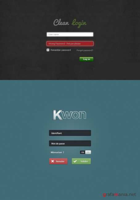 Clean Login Free PSD