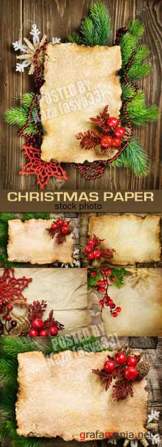 Vintage Christmas paper 3