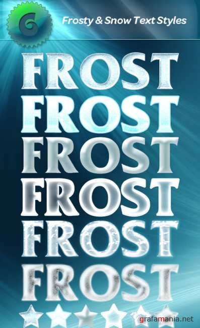 Snow and Frost Photoshop Styles 2011