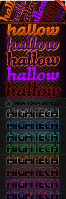 Hightech and Halloween Text Styles for Photoshop