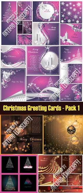 Christmas Greeting Cards - Pack 1