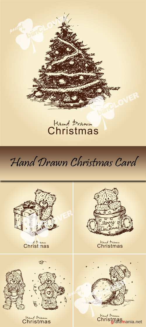 Hand drawn Christmas card 0038