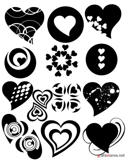 Hearts Brushes for Photoshop