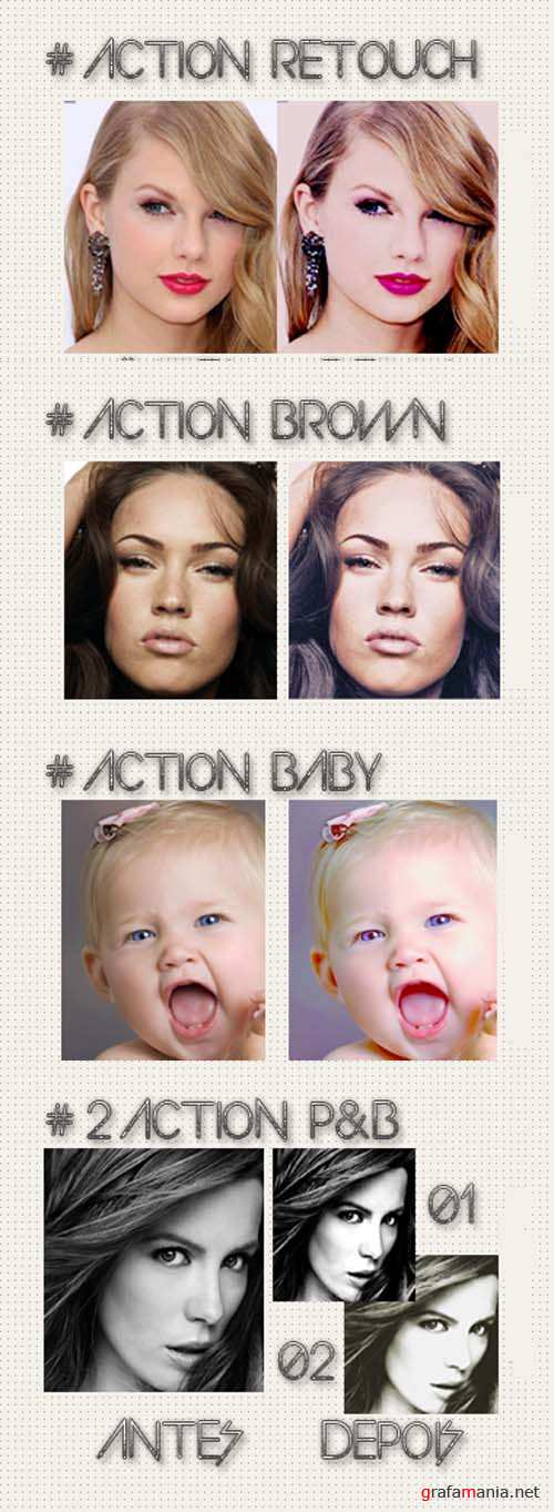 Cool Photoshop Action pack 144