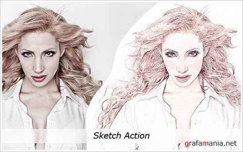 Cool Sketch action set for Photoshop