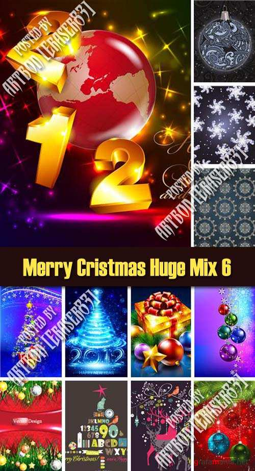 Merry Cristmas Huge Vector Mix 6