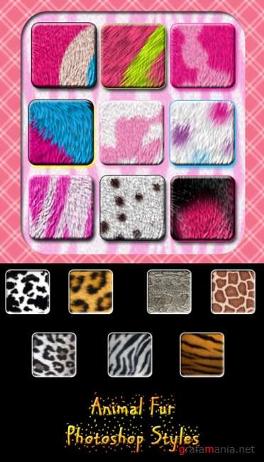 Fur Layer Photoshop Styles
