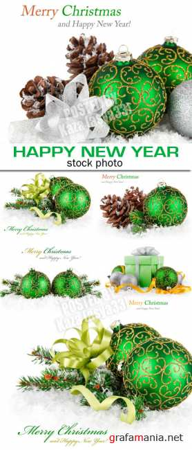 Green New Year decorations