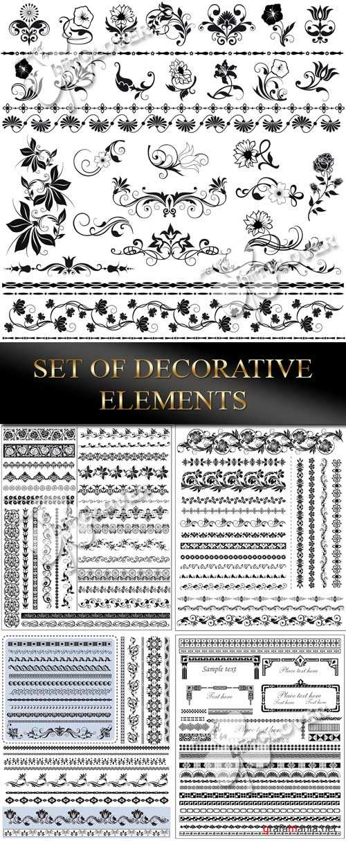 Set of decorative elements 0060