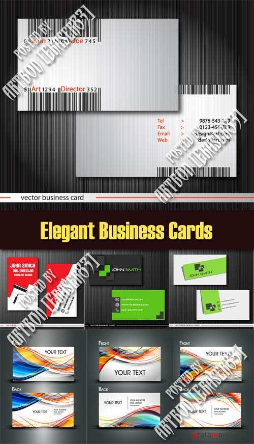 Elegant Business Cards - Vector Pack