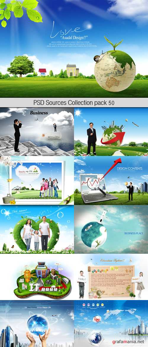 PSD Sources Collection pack 50
