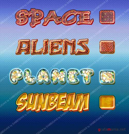Planet Text Styles