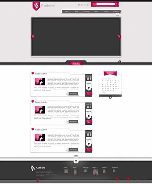 Pink Template - Carboni