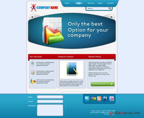 Clean - Template for your Company