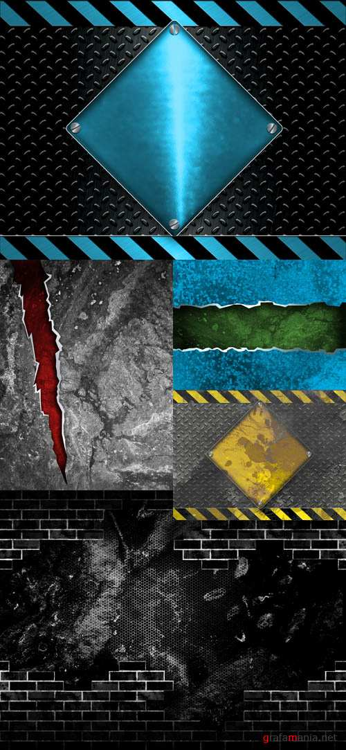 Collection of  Metal Backgrounds for Photoshop