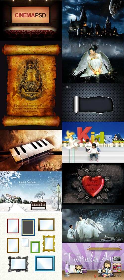 Cool PSD Source Collection for Photoshop 2012 pack 8