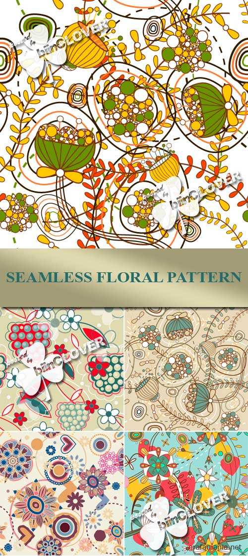 Seamless floral pattern  0081