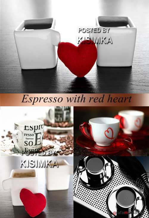 Stock Photo: Espresso with red heart