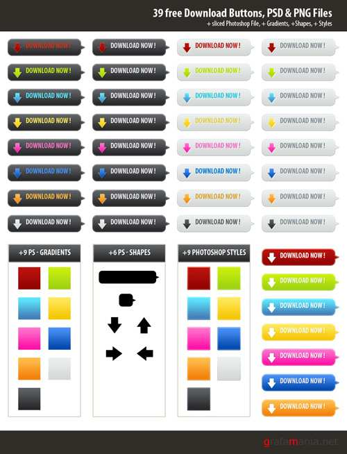 Download Buttons Collection