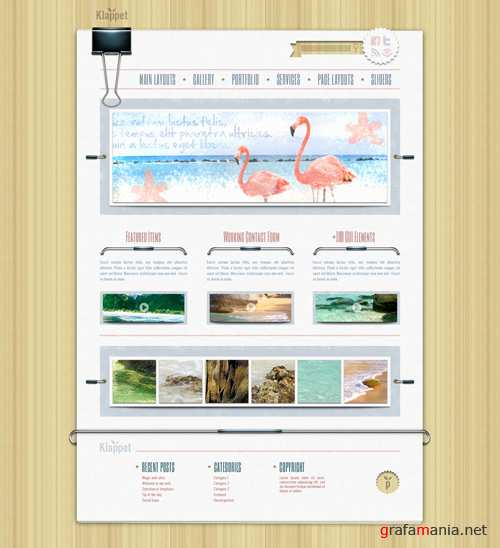WP Theme/Template - Klappet