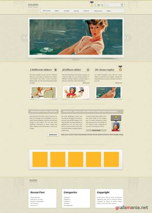 WP Theme/Template - Wloin