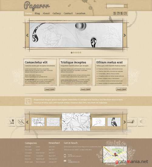 WP Theme/Template - Papper