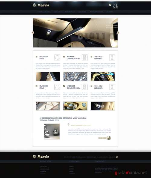 WP Theme/Template - Marvin