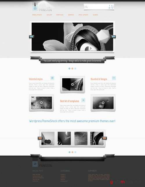 WP Theme/Template - Prinston