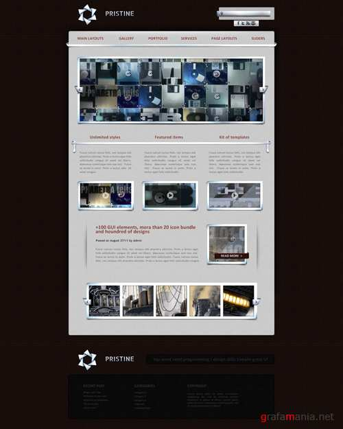 WP Theme/Template - Pristine