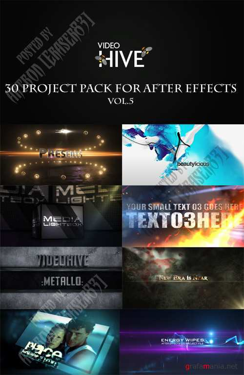 30 Project Pack for After Effects Vol.5 (Videohive) - REUPLOAD