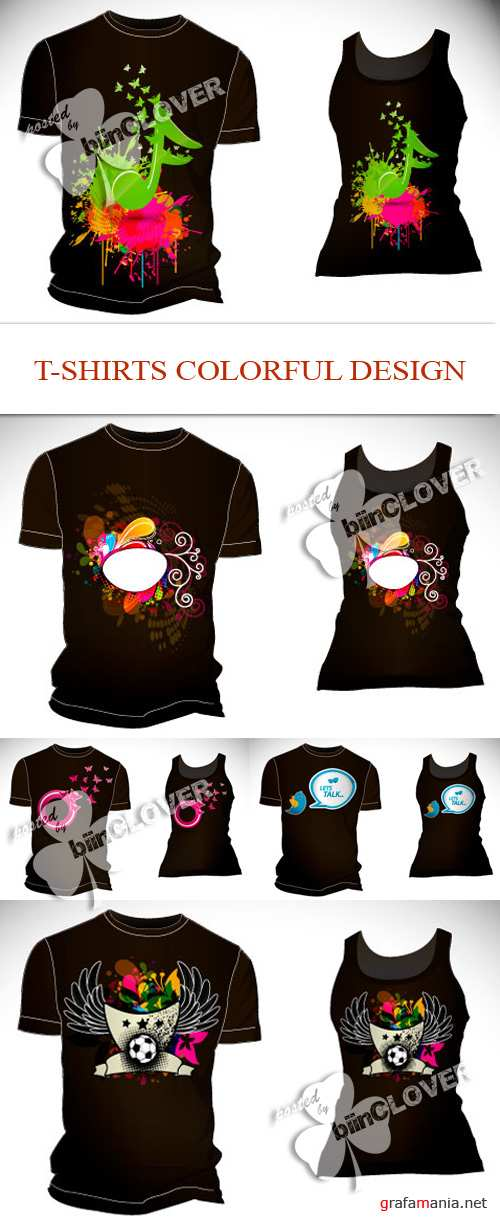 T-shirts colorful design 0100