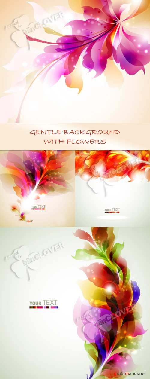 Gentle background with flowers 0104