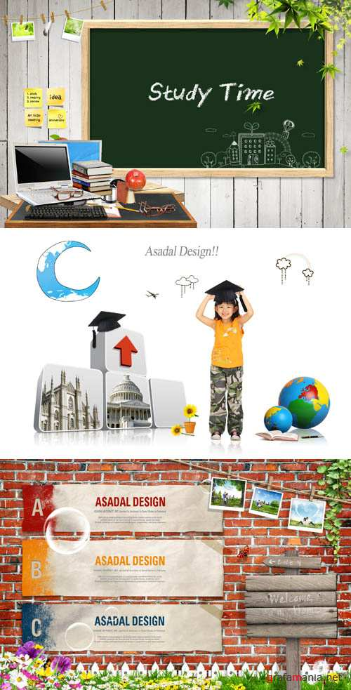Time to learn and acquire new knowledge psd for Photoshop
