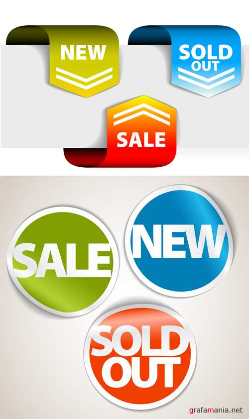 Sale Vector Set Stickers #2