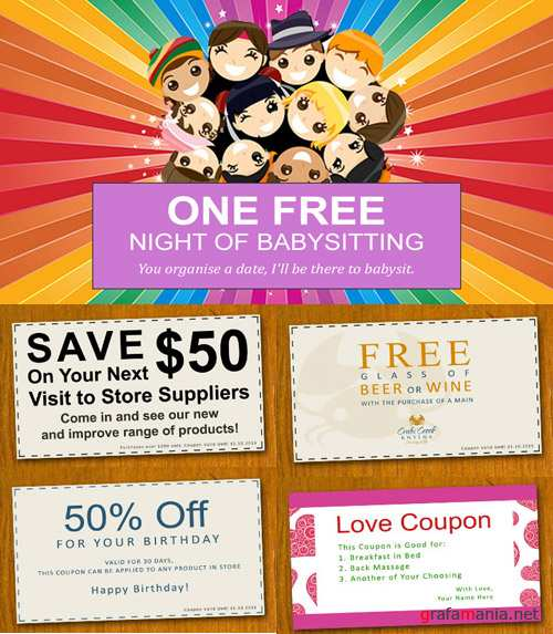 Coupon Template Psd Pack for Photoshop