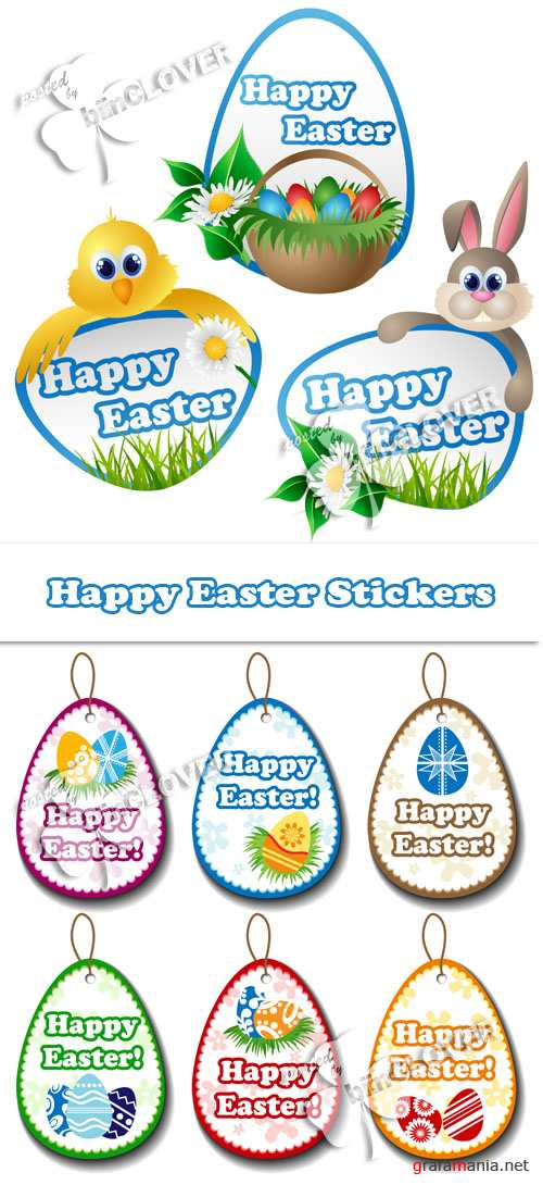 Happy Easter stickers 0126