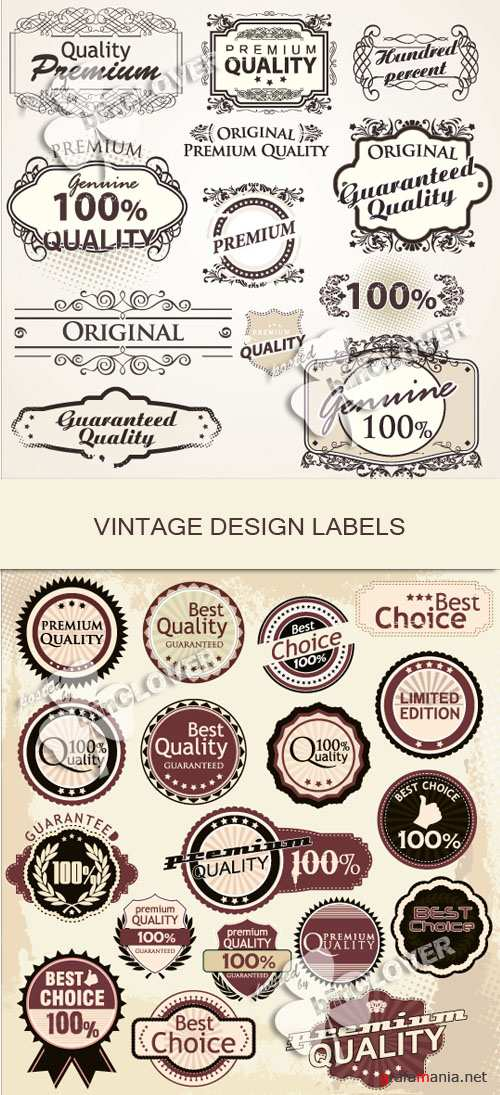 Vintage design labels 0126