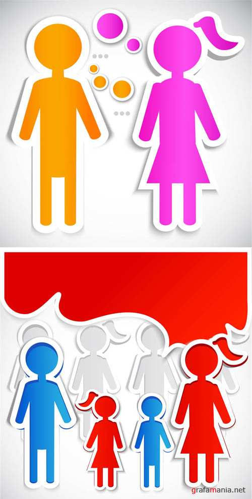 Family Vector Stickers