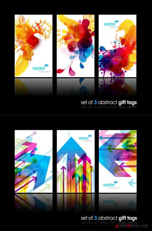 Abstract Gift Vector Tags #2