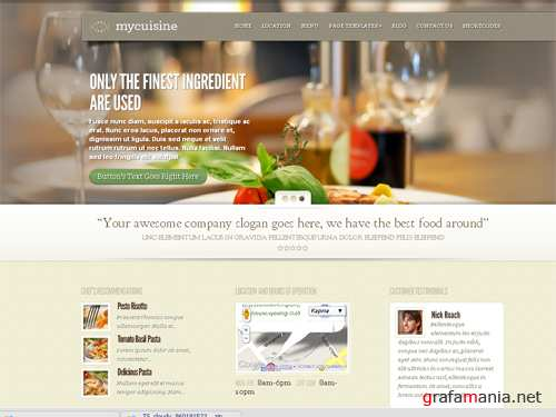 MyCuisine Template Wordpress for Restaurant