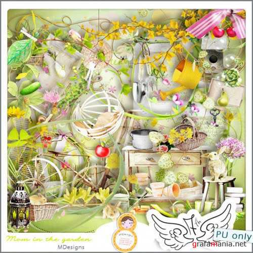 ������ �����-����� - ���� � ����. Scrap - Mom In The Garden