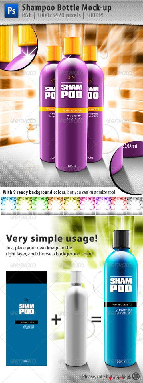 GraphicRiver Shampoo Bottle Mock-up