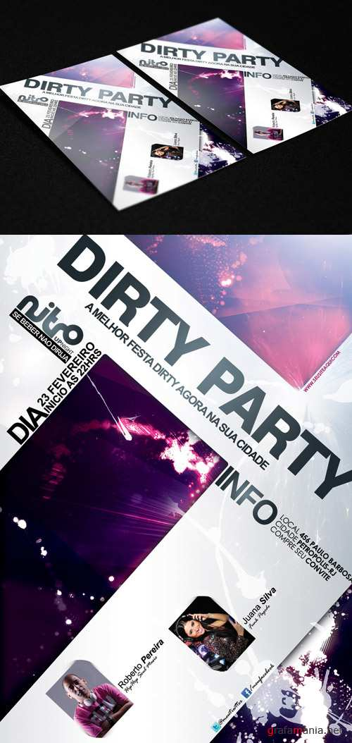 Dance Party Flyer Template - Dirty