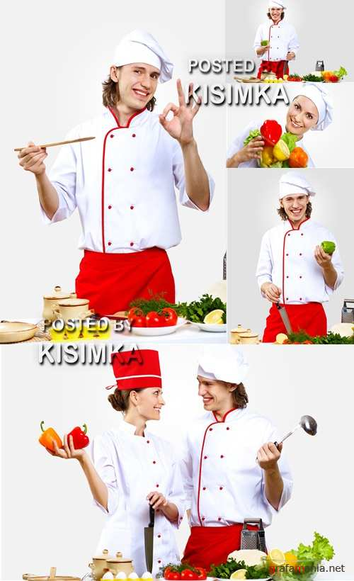 Stock Photo: Portrait of a young cook in uniform