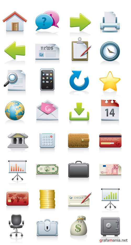 Office and Bank - Vector Icons Pack #7