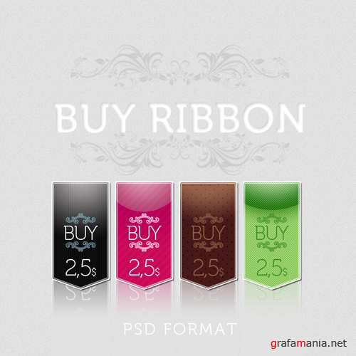 Buy Ribbon psd for Photoshop