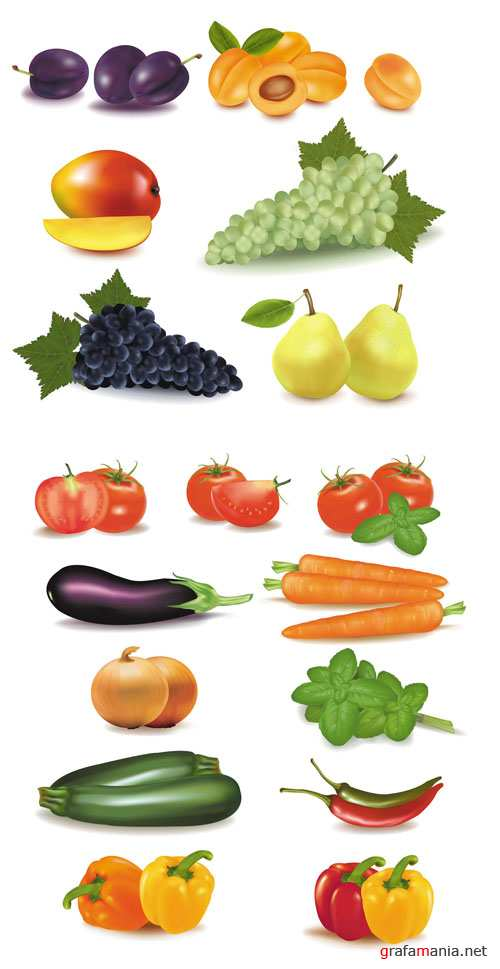 Vegetables and Fruits - Vector Pack #2