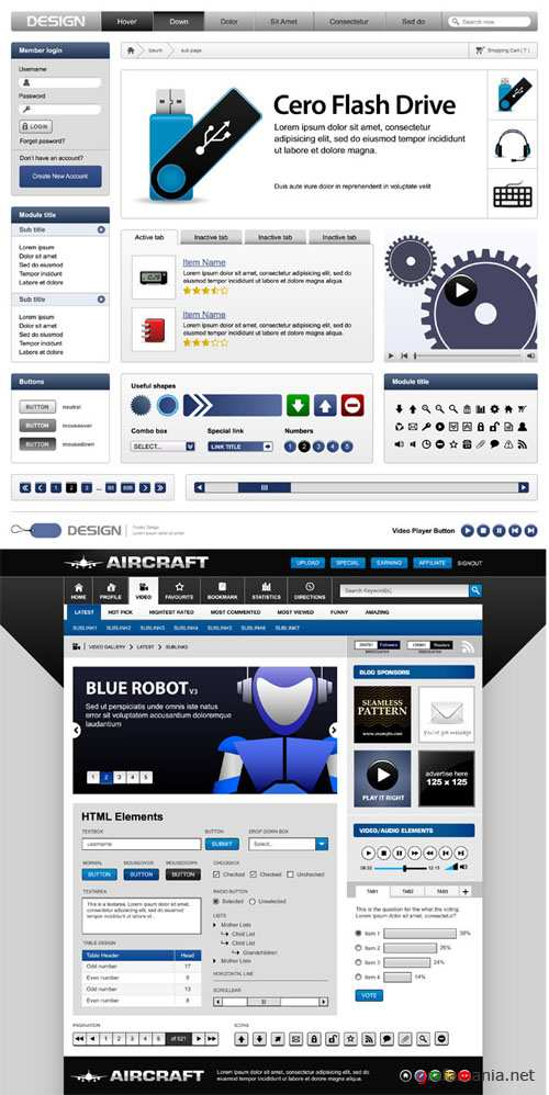Interface Elements for the Site #47