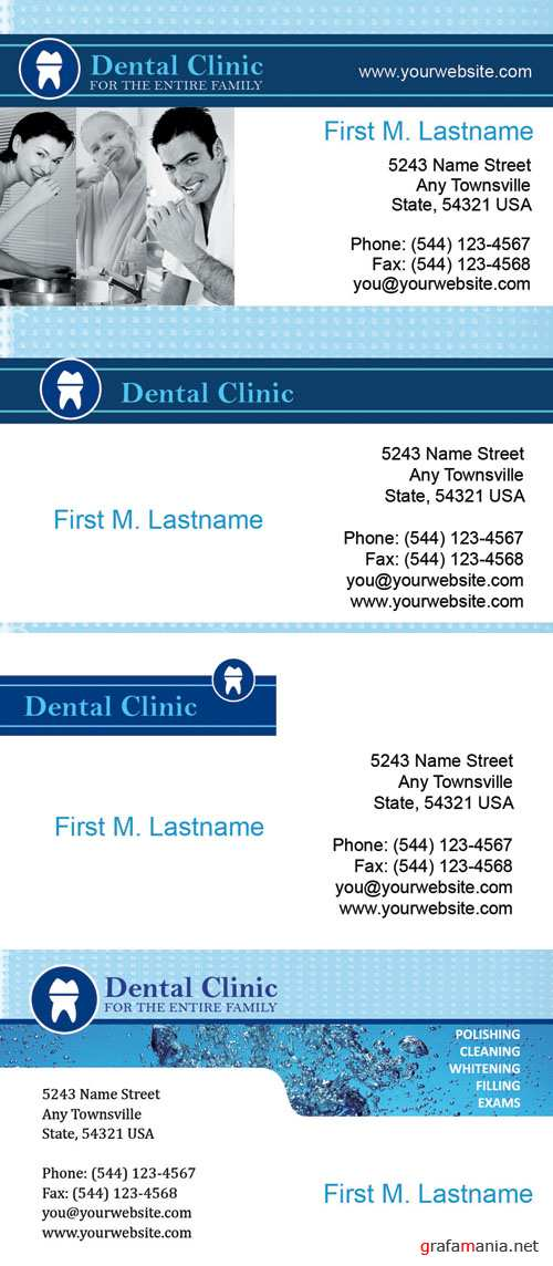 Dentist Business Cards psd for Photoshop