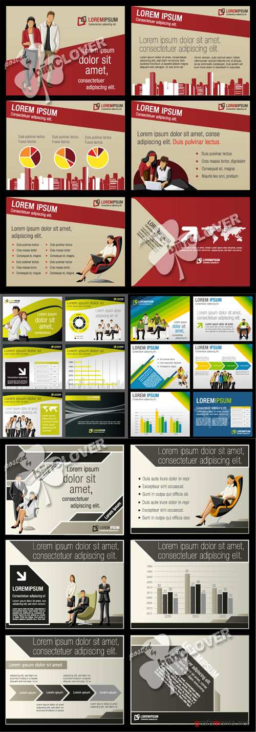Template for brochure with people 0135